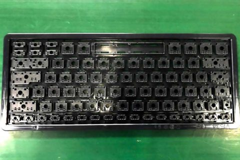 PC Keyboard Bases produced by JM168-MK6 Injection Molding Machine